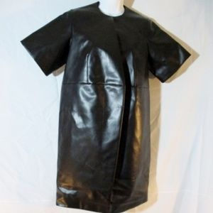 SOLD - New CELINE FAUX LEATHER POLY Dress